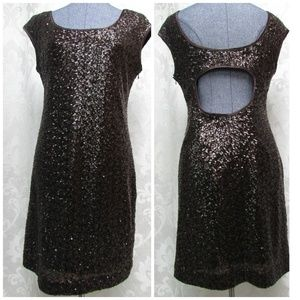 🔽Muse Full Sequin Dress Keyhole Back Fully Lined